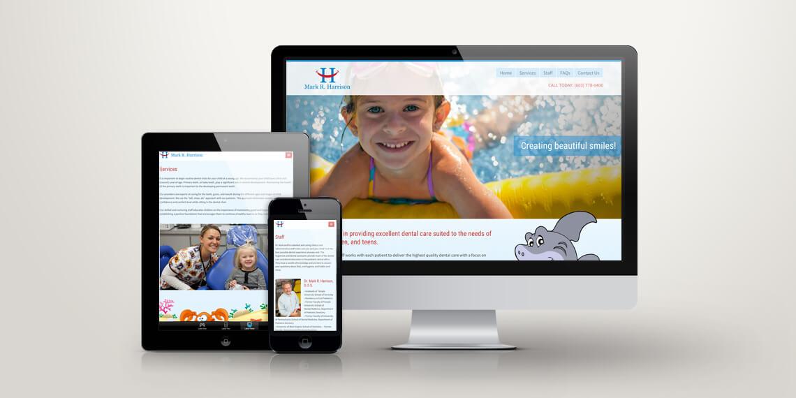 dr mark harrison responsive web site