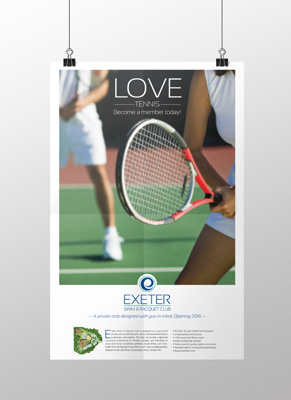 Exeter Swim & Racquet Club Tennis Poster