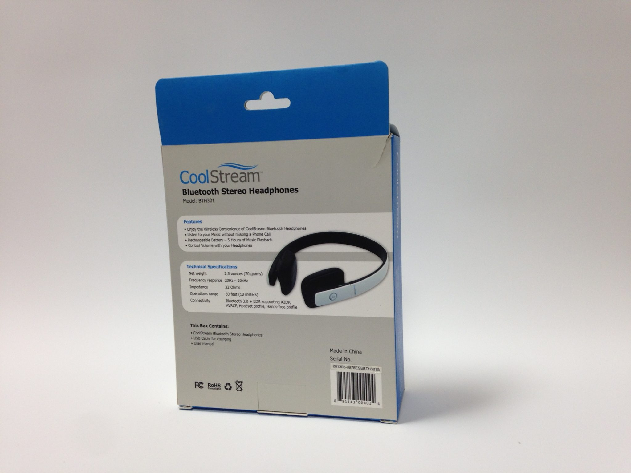 coolstream headphone package design back