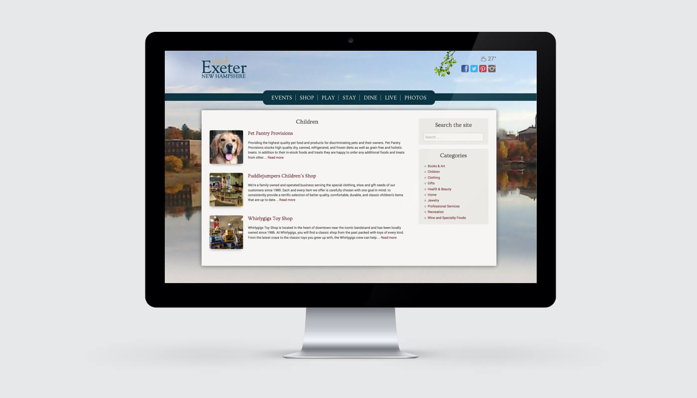 visit exeter nh website
