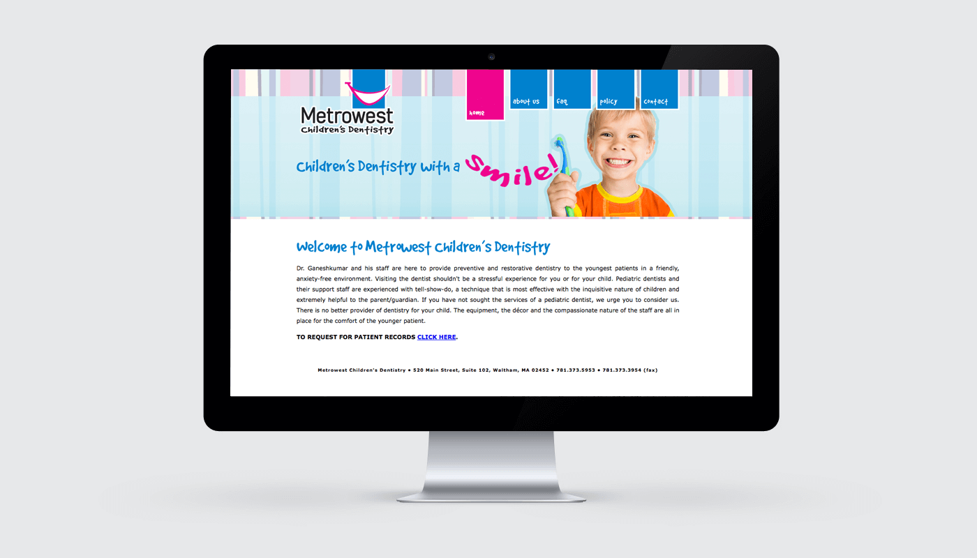 metrowest dental website design