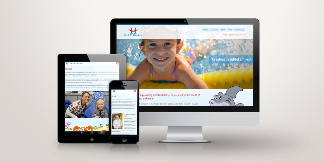 dr mark harrison responsive web site