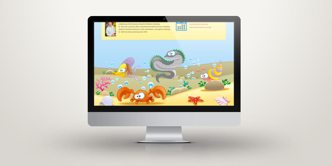 Dr Mark Harrison Dentist website design
