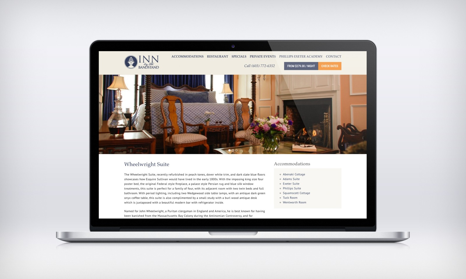 inn-by-the-bandstand website design