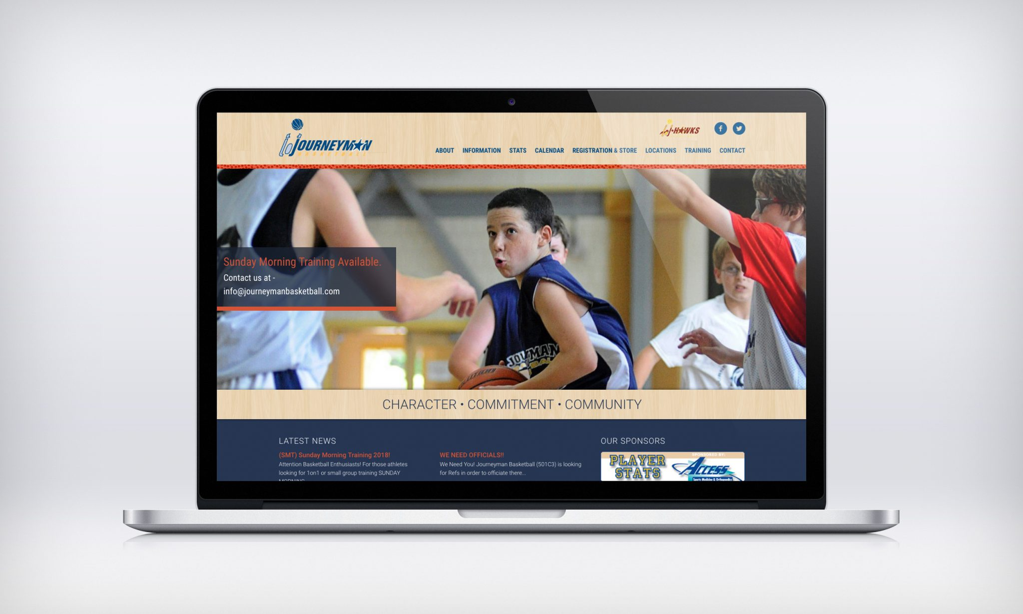 Journeyman Basketball website design